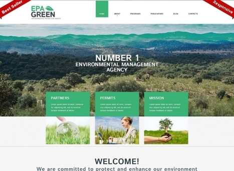 Environmental Responsive WordPress Theme #52293 - FREE Template Depot | Design & Development Tips and Tricks | Scoop.it