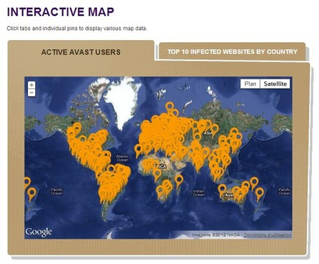 Interactive Maps of Infected Websites | omnia mea mecum fero | Scoop.it