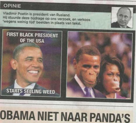 Newspaper apologises for showing Obamas as apes | Global Politics - Yemen | Scoop.it