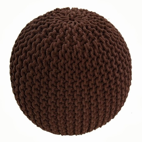 Chunky Chocolate Brown Knitted Pouffe or Footstool | Home Accessories ! | Scoop.it