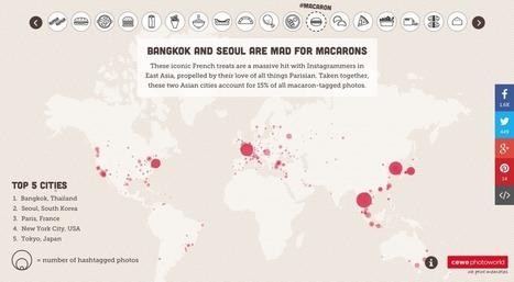 Les données food d'Instagram sur une carte du monde | Food News | Scoop.it