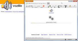 VozMe: pasando de texto a voz en la WEB | Blog de Grupo U | Docentes y TIC (Teachers and ICT) | Scoop.it