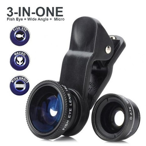 LQ-001 Clip-On 0.67X Wide Angle 180' Fish Eye Lens + Macro Lens for iPhone + More (Black) | Apple iPhone Accessories, iPad Accessories For Sale at Aurabuy -   Free Shipping | Scoop.it