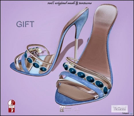 Taylor Blue Heels Gift by ChicChica | Teleport Hub - Second Life Freebies | Second Life Freebies | Scoop.it