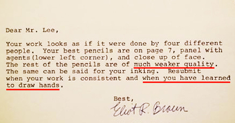 10 Painful Rejection Letters To Famous People Proving You Should NEVER Give Up Your Dreams | Relentlessly Creative Books | Scoop.it