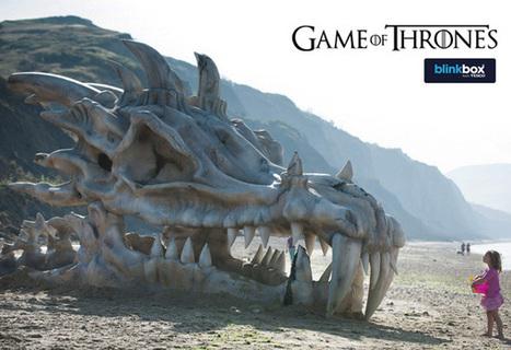 Game of Thrones : Un crane de Dragon géant installé sur une plage | streetmarketing | Scoop.it
