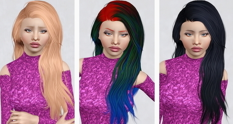 Stealthic's Heaventide Pushed Back hairstyle retextured by Beaverhausen | Sims 3 Downloads | Scoop.it