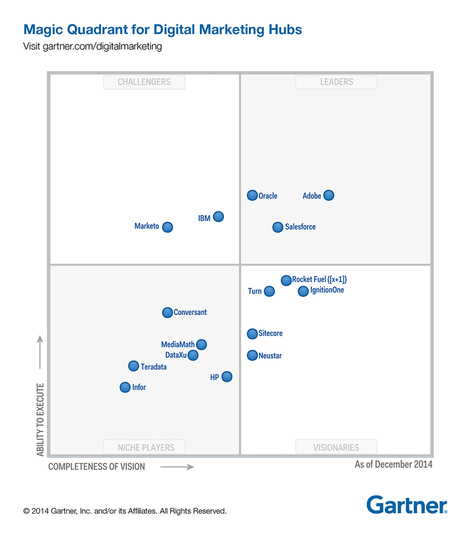 16 Vendors Under The Glass, As Gartner Releases First Digital Marketing Hub Quadrant   DMP Marketing   Scoop.it