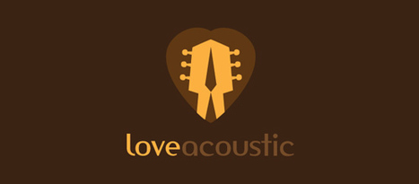 30 Beautiful Designs of Guitar Logo for Your Inspiration | Beautiful and creative logos | Scoop.it