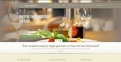 MyCuisine 3.4 – ElegantThemes WordPress Theme - Get Nulled Scripts | 2014 WOrdpress Themes and Plugins | Scoop.it