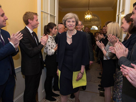Theresa May takes down Downing Street artworks, replaces them with quotes from her speech | L'Europe en questions | Scoop.it