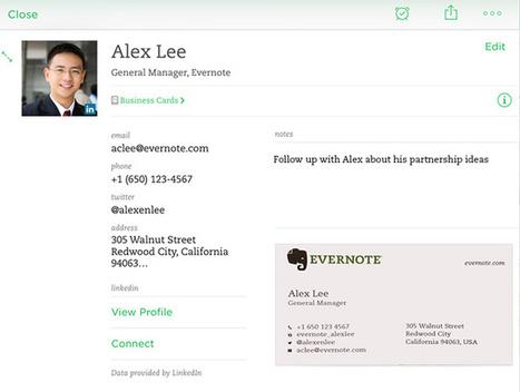 Comment utiliser votre téléphone pour numériser les cartes de visite dans Evernote ? | Evernote | Scoop.it