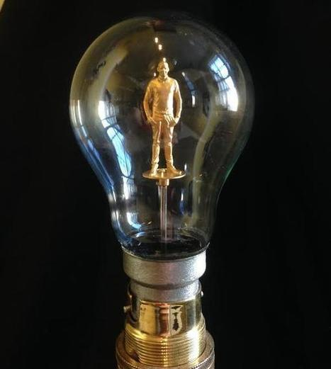 Reinventing the Light Bulb… With a Miniature 3D Printed Version of Yourself Inside? | 3D and 4D PRINTING | Scoop.it
