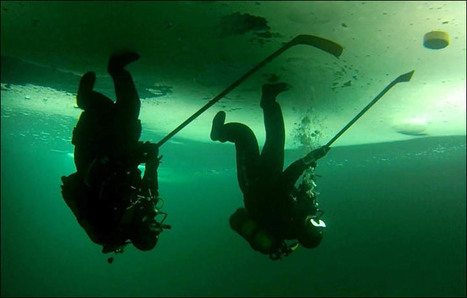 First-ever underwater ice #hockey matches held in Siberia | #scuba | diving | Scoop.it
