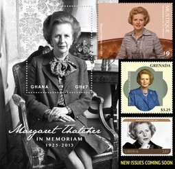Margaret Thatcher 1925-2013 | Des timbres, une époque | Scoop.it