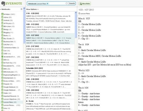 Part 4: Lesson Planning with Evernote | Evernote | Scoop.it