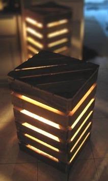 eco design luminaires et meubles en palettes. Black Bedroom Furniture Sets. Home Design Ideas