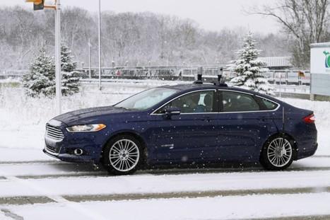 Ford teste ses véhicules autonomes sur routes enneigées | Objets connectés, quantified self, TV connectée et domotique | Scoop.it