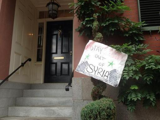 Anti-War Protesters Knock on John Kerry's Door in Boston, Media Mostly Mum | NewsBusters