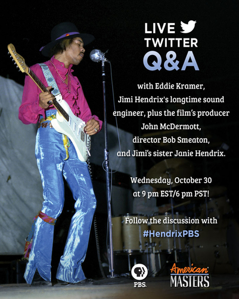Jimi Hendrix Sound Engineer Eddie Kramer to Take Part in Live Twitter Q&A Wednesday | Around the Music world | Scoop.it