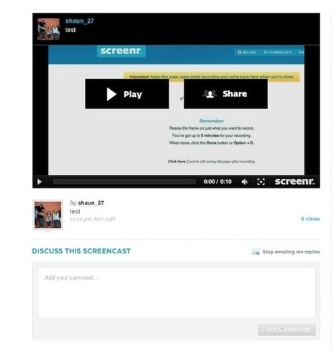 Screenr: Easy Screencasting on the Web | Screencasting & Flipping for Online Learning | Scoop.it