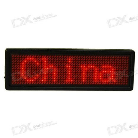 Large Rechargeable Scrolling LED Text Badge with USB Port (English+Chinese+Multilingual) - Worldwide Free Shipping - DX | productos | Scoop.it