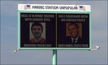 Billboard Compares Obama to Suspected Shooter Holmes | MN News Hound | Scoop.it