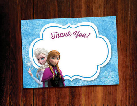 6 Frozen Themed Party Printables Idea- 2015 | Label Printing Services | Scoop.it
