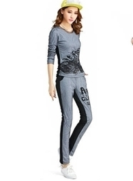 $ 23.69 Attractive Split Joint Long Sleeves Yarn Casual Korean Sports New Arrival Active Suits | wedding and event | Scoop.it