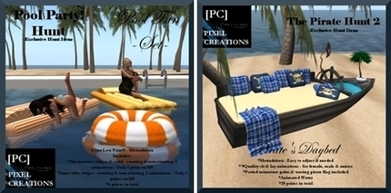 Dreamer's Virtual World: Pirates and Pool Parties @ Pixel Creations | Freebies and cheapies in second life. | Scoop.it