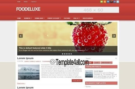 Fresh Red Restaurant Blogger Theme Template   Blogger themes   Scoop.it