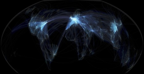 Global flight paths... | Art for art's sake... | Scoop.it