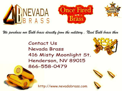 Sales Brass Of Nevada   Fired Once Brass   Scoop.it