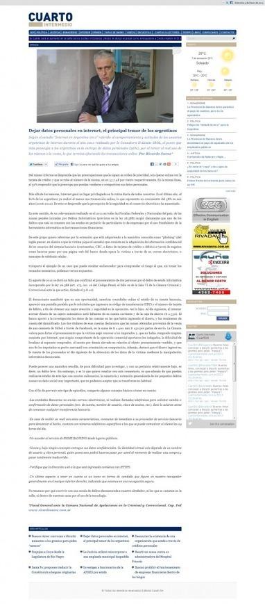 Artículo de Ricardo Saenz sobre dejar datos personales en internet | Observatorio de Medios | Scoop.it