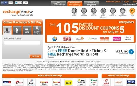 Top 5 Online Recharge Websites in India | Tech @ Techtricksworld | Scoop.it