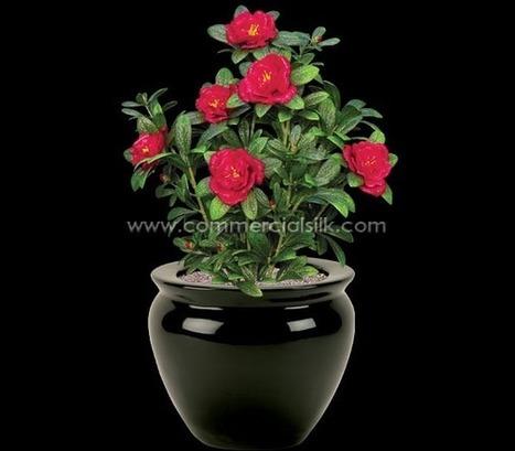 Outdoor Artificial Flowers - Azalea Flower Beauty - Commercial Silk | Home Improvement - Landscaping | Scoop.it