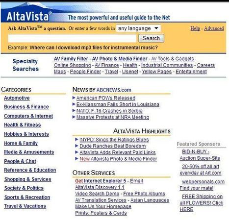 Remember AltaVista? Yahoo Pulls the Plug on the Once Popular Search Engine | Business in a Social Media World | Scoop.it