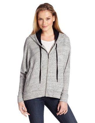 DKNY Jeans Women's Zip Front Hoodie, Smoke Grey Heather, X-Small | Big Deals Fashion Today | Scoop.it