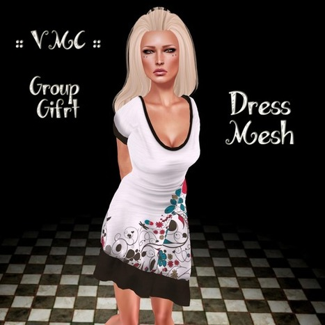 White Mesh Dress Gift by VMC | Teleport Hub | Secondlife | Scoop.it