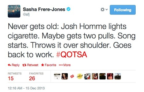 Sample tweet from Sasha Frere-Jones | Review & Criticism on Social Media | Scoop.it