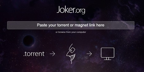 Joker.org  |  converts your torrent files into streamable videos | Time to Learn | Scoop.it