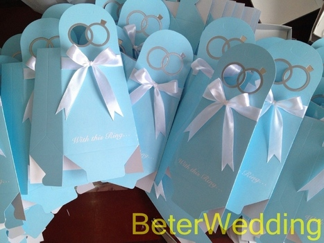 60pcs TH021/B Tiffany blue Engagement Ring Candy Box結婚接待 | 純歐式婚禮喜糖盒 倍樂婚品 | Scoop.it