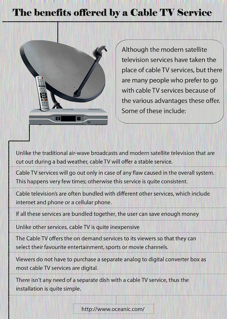 The Benefits Offered by a Cable TV... | MyFolio | Oceanic | Scoop.it