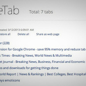 OneTab Unloads All Your Tabs Into a Shareable List | Best Web Apps | Scoop.it
