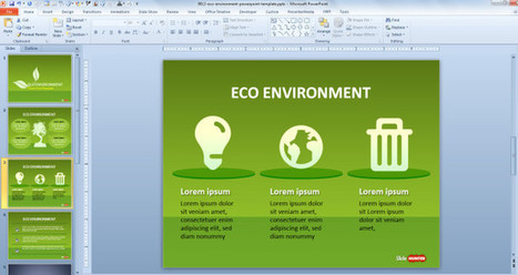 Free Green Sustainability PowerPoint Template - Free PowerPoint Templates - SlideHunter.com | MohamedSaad | Scoop.it