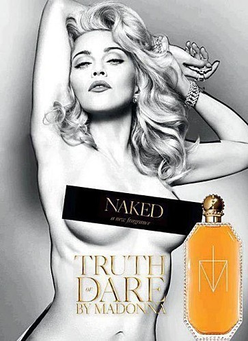 Buzz: Madonna se dénude pour la promo de son parfum (photo) | mio | Scoop.it