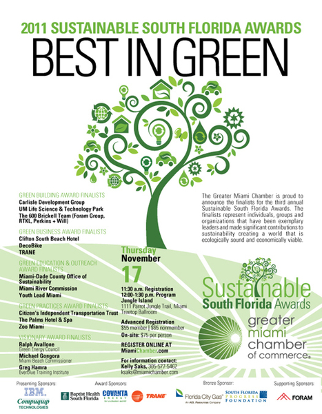 Sustainable South Florida Awards Greater Miami Chamber of Commerce Miami, FL | Education for Sustainable Development | Scoop.it