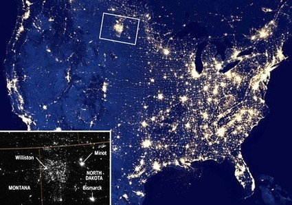 U.S. Gas Flaring Visible from Space as Fracking Industry Booms | EcoWatch | Scoop.it