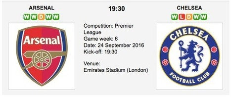 Arsenal vs. Chelsea: Match preview & Tips - 24/09/2016 EPL | ukbettips.co.uk | Scoop.it