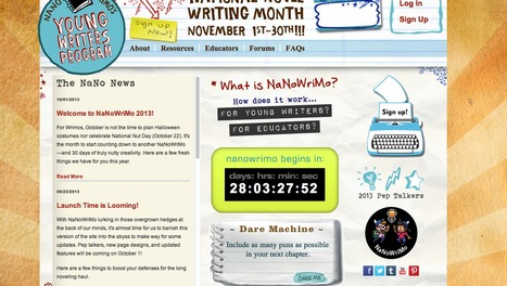 NaNoWriMo Young Writers Program | 21st Century Tools for Junior High | Scoop.it